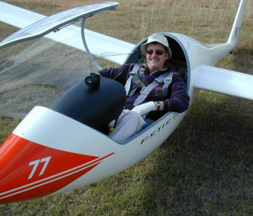Pete after a 5 hour flight. November 2004